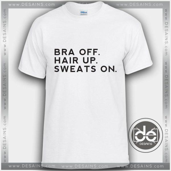 Tshirt Bra Off Hair Up Sweats On Tshirt Womens Tshirt Mens Size S-3XL