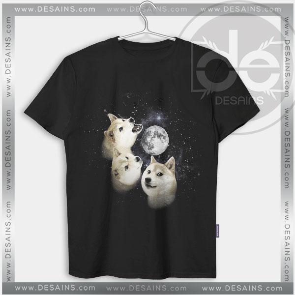 Tshirt Three Doge Wolf Moon Tshirt mens Tshirt womens Tees Size S-3XL