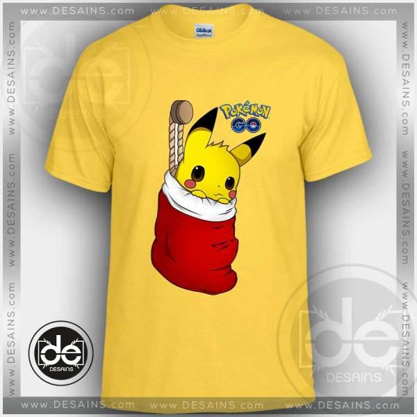 Tshirt Christmas Pikachu Pokemon Go Tshirt Kids Children and Adult Tshirt