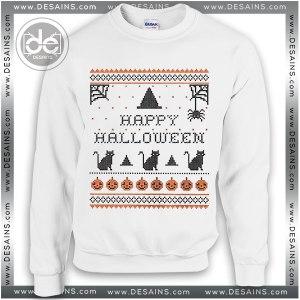 Sweatshirt Happy Halloween Holiday Sweater Womens and Sweater Mens