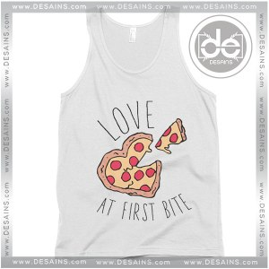 Buy Tank Top Love at First Bite Pizza Tank top Womens and Mens Adult