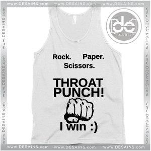 Tank Top Paper Scissors Throat Punch Custom Tank top Womens Mens