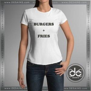 Buy Tshirt Burgers Plus Fries Tshirt Womens Tshirt Mens Tees Size S-3XL