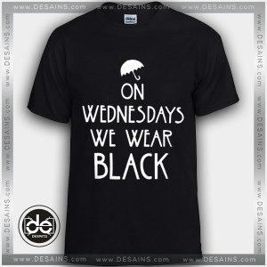 Buy Tshirt On Wednesdays We Wear Black Tshirt Womens Tshirt Mens Tees Size S-3XL