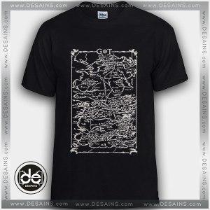 Buy Tshirt Game of Thrones Map Tshirt Womens Tshirt Mens Tees Size S-3XL