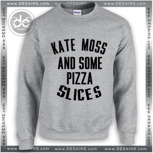Buy Sweatshirt Kate Moss and Some Pizza Slices Sweater Womens and Sweater Mens