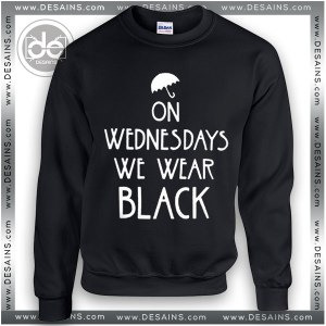 Buy Sweatshirt On Wednesdays we Wear Black Sweater Womens and Sweater Mens