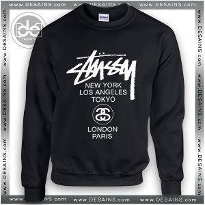 Buy Sweatshirt Stussy World Tour Sweater Womens and Sweater Mens