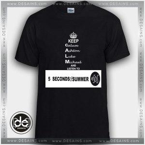 Tshirt 5SOS Keep Calum Ashton Luke Michael Tshirt Womens Tshirt Mens Tees Size S-3XL