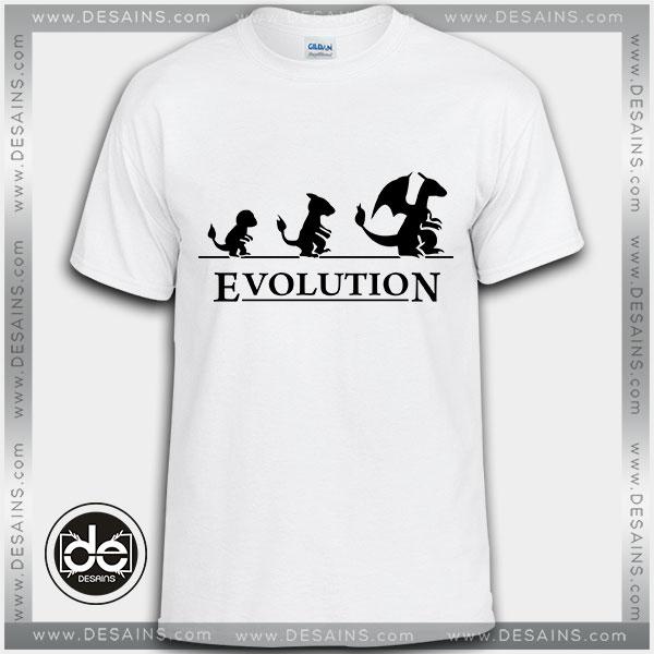 Buy Tshirt Pokemon Charizard Funny Evolution Tshirt Womens Tshirt Mens Tees Size S-3XL