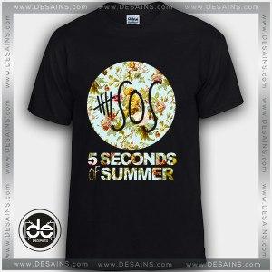 Buy Tshirt 5SOS Flower Tshirt Womens Tshirt Mens Tees Size S-3XL