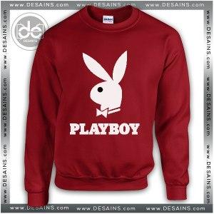 Buy Sweatshirt Playboy Logo Sweater Womens and Sweater Mens Red