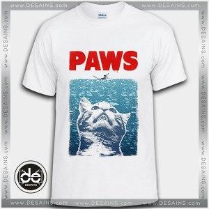 Buy Tshirt Funny Cat Meow Paws Jaws Tshirt Womens Tshirt Mens Tees Size S-3XL
