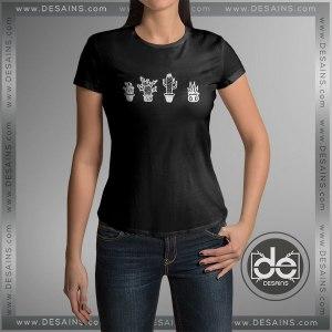 Buy Tshirt Cactus Black Plants Tshirt Print Womens Mens Size S-3XL