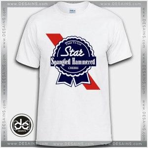 Buy Tshirt Star Spangled Hammered Tshirt Print Womens Mens Size S-3XL