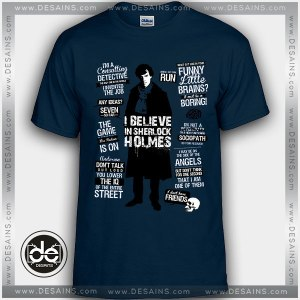 Cheap Graphic Tee Shirts Detective Sherlock Quotes On Sale