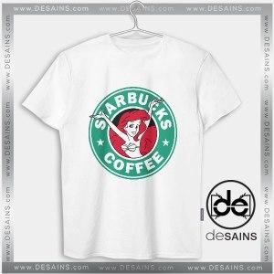 Cheap Graphic Tee Shirts Starbucks Ariel Little Mermaid