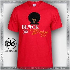 Cheap Graphic Tee Shirts Black and Boujee on Sale Red