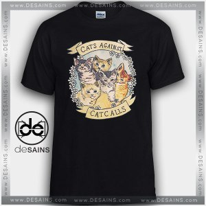 Cheap Graphic Tee Shirts Cats Against Cat Calls on Sale