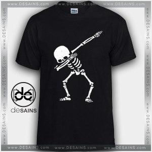 Cheap Graphic Tee Shirts Dabbing Skeleton Skull Dance