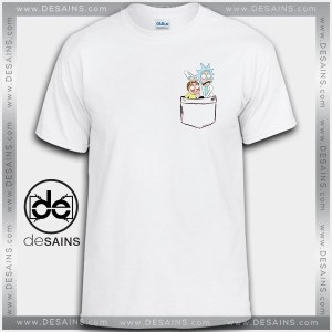 Cheap Graphic Tee Shirts Rick and Morty Pocket Tshirt on Sale