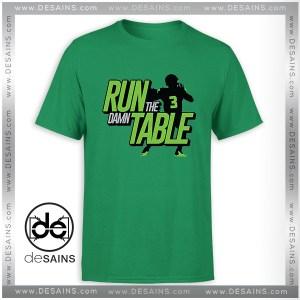 Cheap Graphic Tee Shirts Run the Damn Table Tshirt Size S-3XL