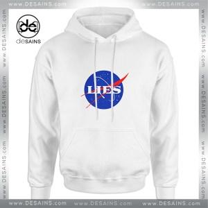 Cheap Graphic Hoodie NASA Lies Logo Funny