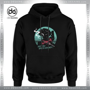 Cheap Graphic Hoodie Space Cowboy Negative Space Silhouette