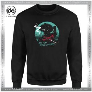 Cheap Graphic Sweatshirt Space Cowboy Negative Space Silhouette
