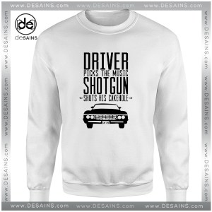 Cheap Graphic Sweatshirt Supernatural Driver Picks The Music Shotgun Shuts