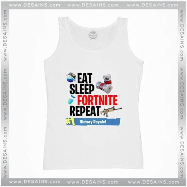 Cheap Graphic Tank Top Fortnite Eat Sleep Fortnite Repeat