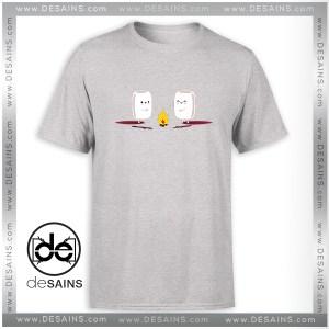 Cheap Tee Shirt Camping Cute Marshmallows Tshirt Size S-3XL