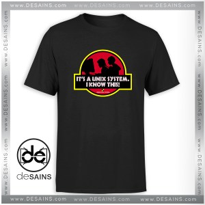 Tee Shirt Unix System Park Jurassic Park Logo Tee Shirt Size S-3XL