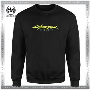Cheap Graphic Sweatshirt Cyberpunk 2077 Game Logo Size S-3XL