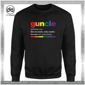 Cheap Graphic Sweatshirt Guncle Definition Funny Uncle Custom