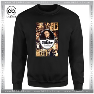 Cheap Graphic Sweatshirt The Godfather Movie Poster Vintage