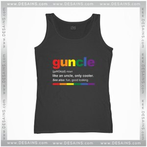 Cheap Graphic Tank Top Guncle Definition Funny Uncle Custom