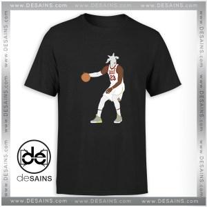 Cheap Graphic Tee Shirt LeBron James The GOAT NBA Tshirt Size S-3XL