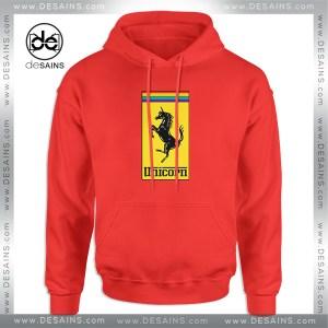 Cheap Hoodie Gay Pride Month Ferrari Logo Unicorn Hoodies Adult Unisex