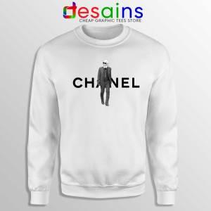 Buy Sweatshirt Karl Lagerfeld Fashion Crewneck White Sweater