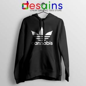 Hoodie Cannabis Leaf Adidas Cheap Hoodies Funny Parody Black