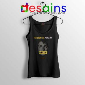 Michael Jackson Innocent Tank Top Facts Don't Lie People Do Size S-3XL