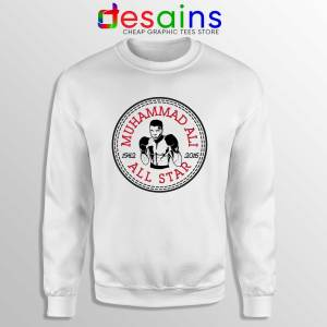 Muhammad Ali All Star Sweatshirt Converse Logo Crewneck Size S-3XL