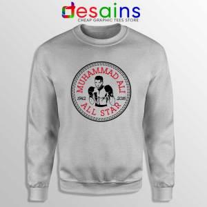 Muhammad Ali All Star Sweatshirt Converse Logo Crewneck Sport Grey