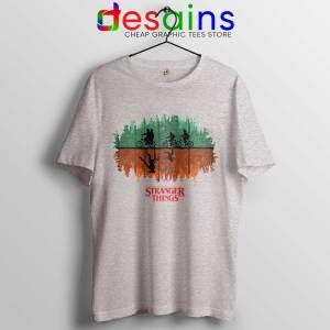 Tee Shirt Stranger Things Season 3 Poster Cheap T-shirt Sport Grey