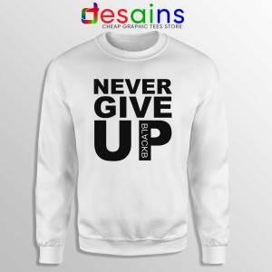 Buy Sweatshirt Never Give Up Mohamed Salah Crewneck Sweater White