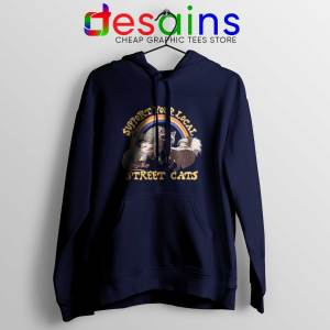 Hoodie Support Your Local Street Cats Navy Blue Hoodies Adult Unisex