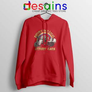 Hoodie Support Your Local Street Cats Red Hoodies Adult Unisex