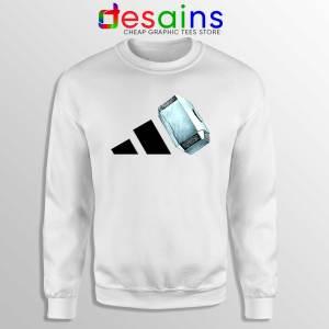 Sweatshirt Thor Mjolnir Hammer Adidas Sweater White