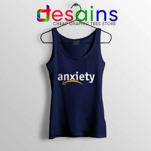 Tank Top Anxiety Amazon Logo Navy Blue Cheap Tank Tops Funny